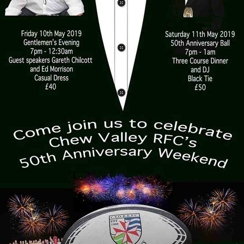 Chew Valley Rugby Club 50th Anniversary