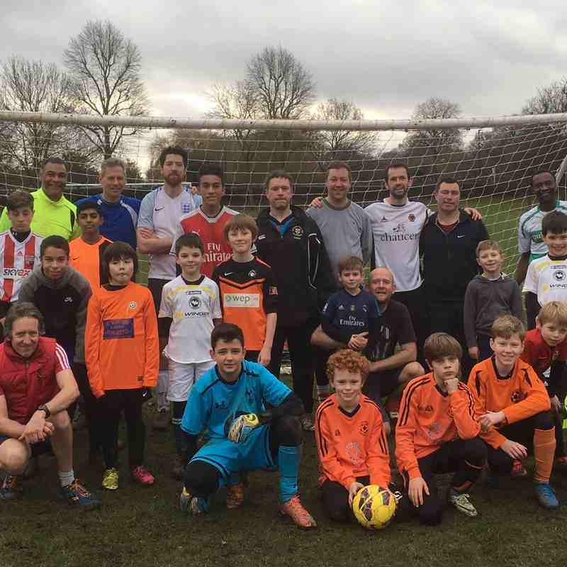 nyd dads vs lads match 2017