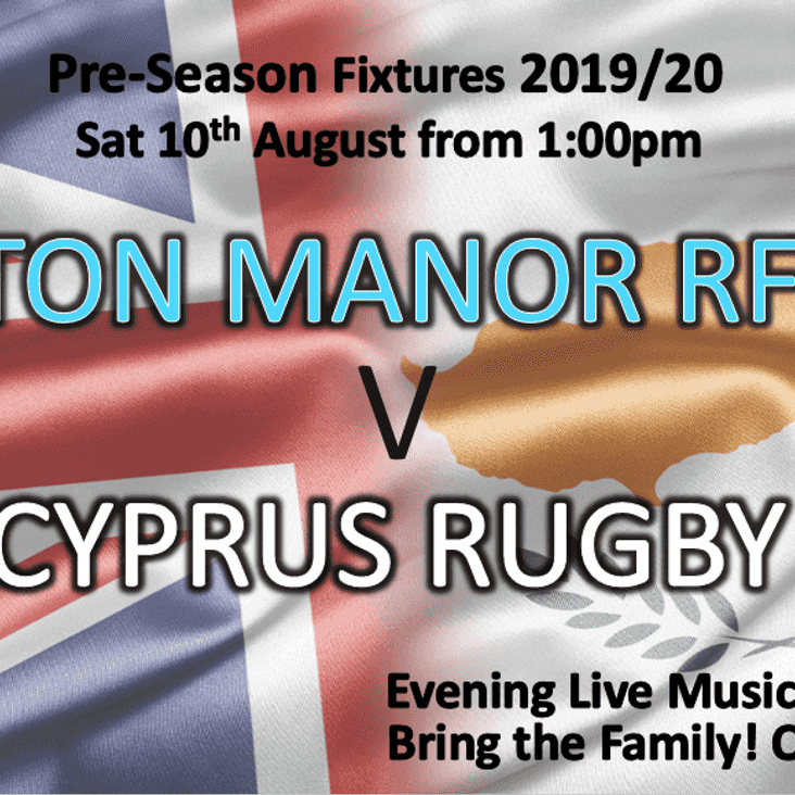 Eton Manor RFC v Cyprus Rugby