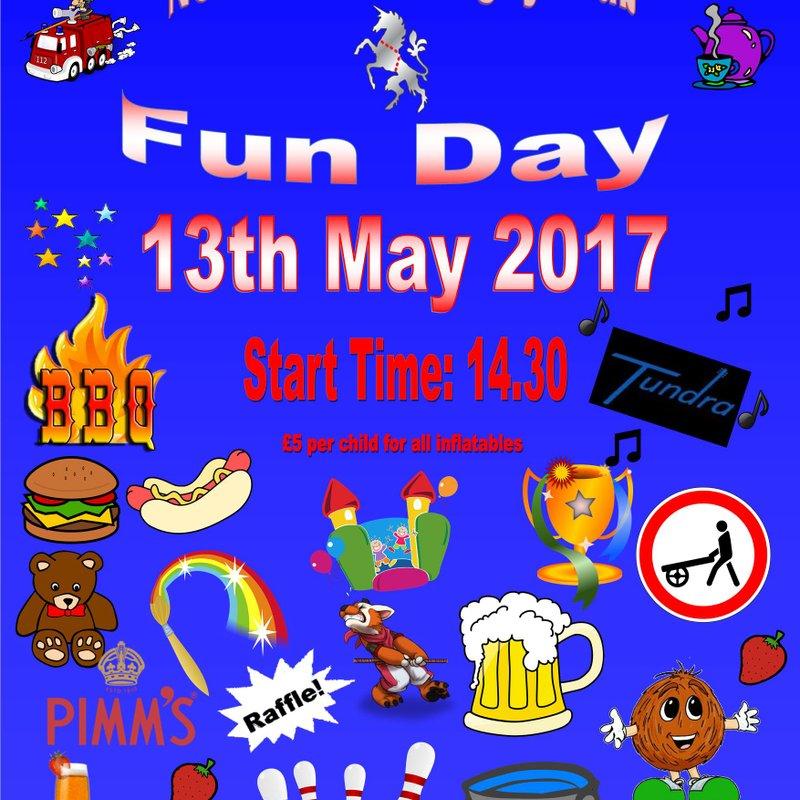 End of Season Fun Day Saturday 13th May