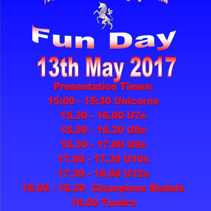 Fun Day Awards Timetable