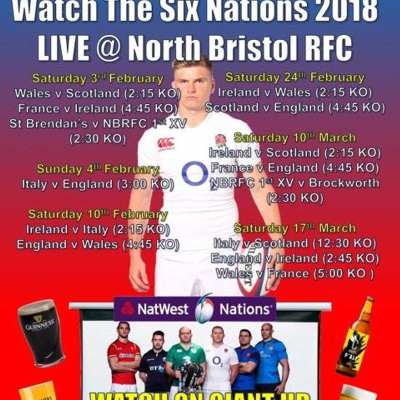 Watch 6 Nations at North Bristol RFC