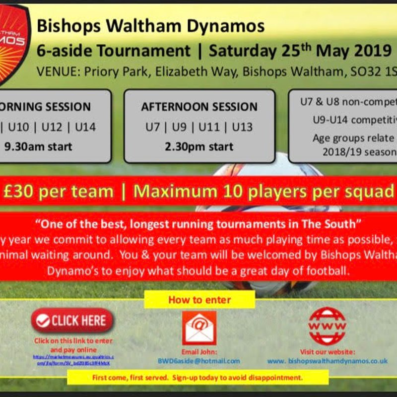 Bishops Waltham Dyanmos 6-aside Tournament