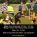Summer Touch Rugby Starts - Wed 16th May 2018