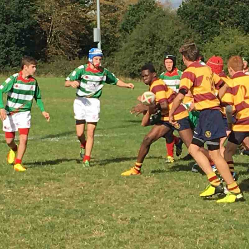Under 15's A and B against Westcliff Sun 9th Oct