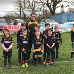 Cockermouth U8s at Wigton rugby festival