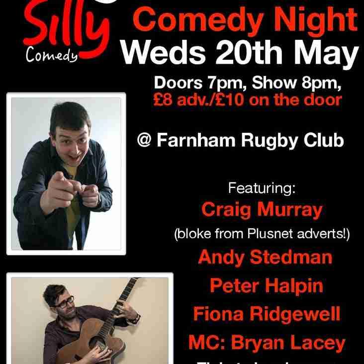 COMEDY NIGHT @ FARNHAM RUGBY CLUB