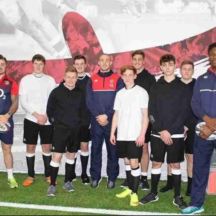 Farnham Players train with England