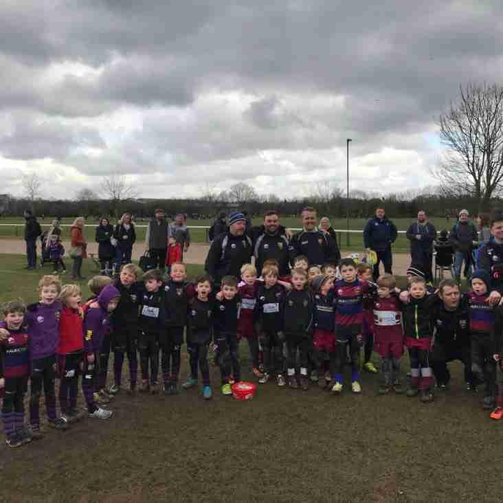 U7s joint training with Maidenhead RFC