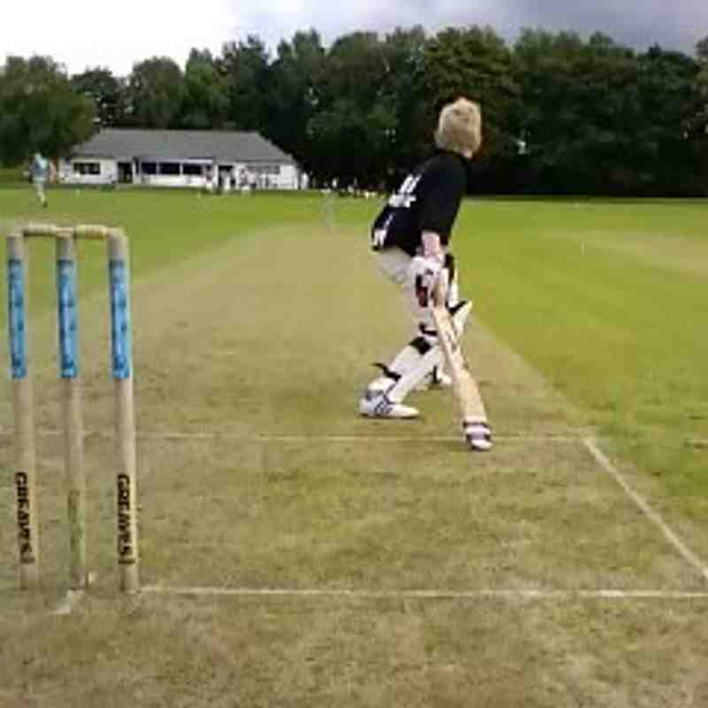 Weirs U13's captain J.G. steals a run against 'West' during the 6-a-side family day!
