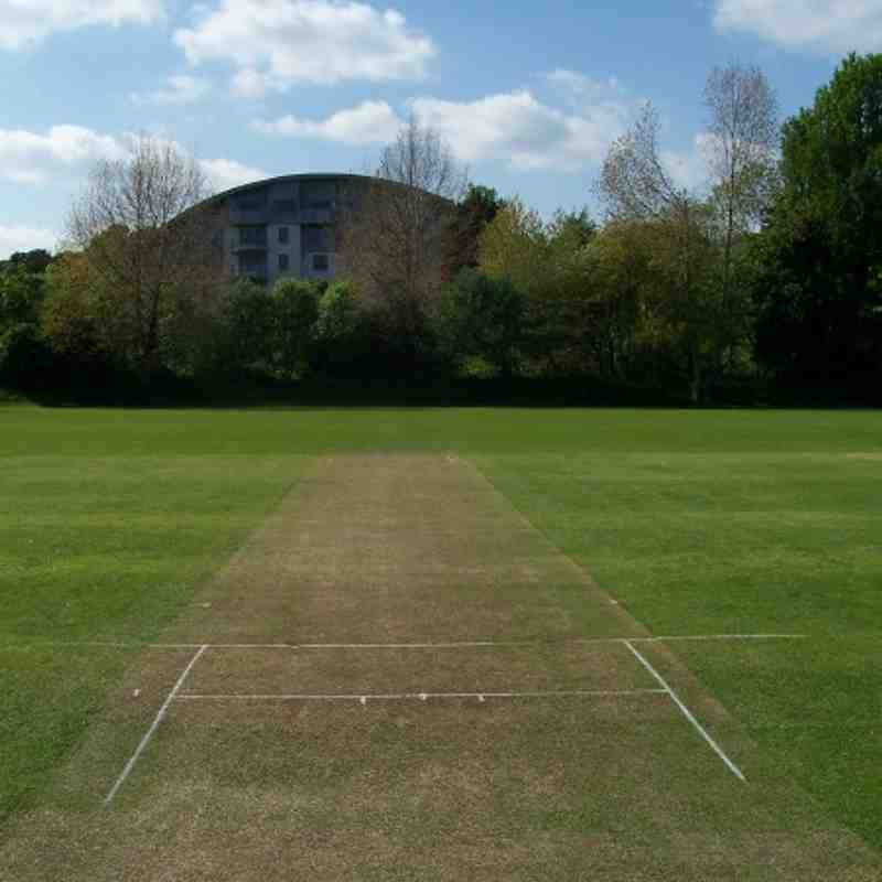 Middle of the square - 1st XI pitch, looking west.
