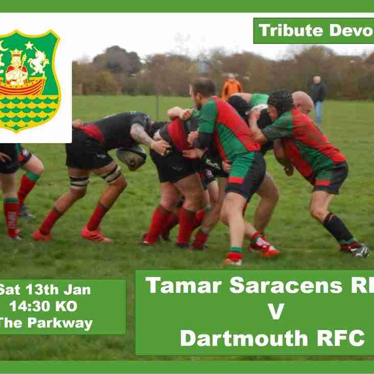 Tamar Saracens RFC v Dartmouth RFC