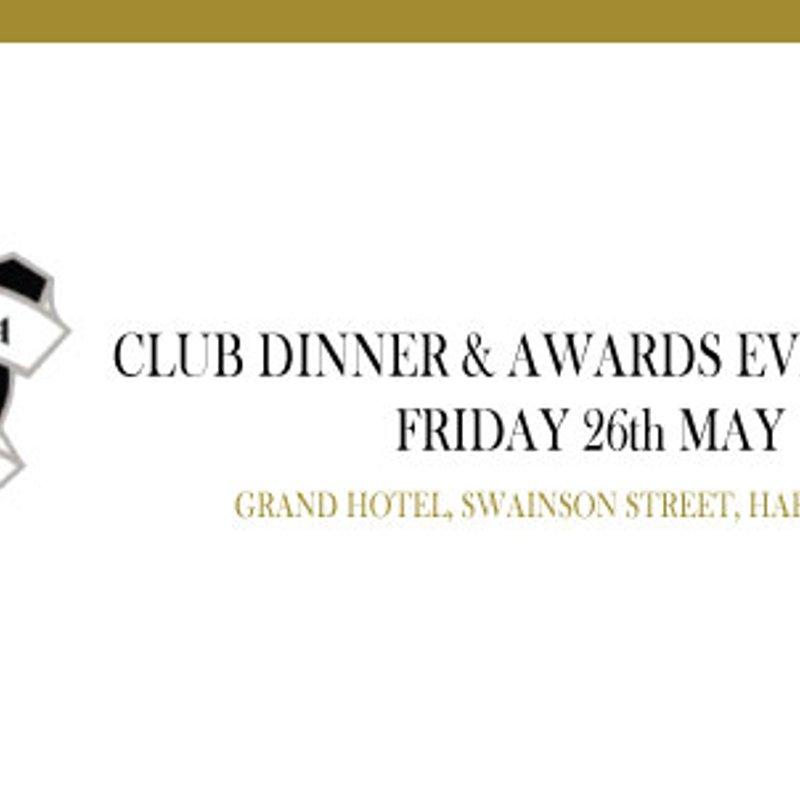 Running Order for Club Dinner & Awards Evening