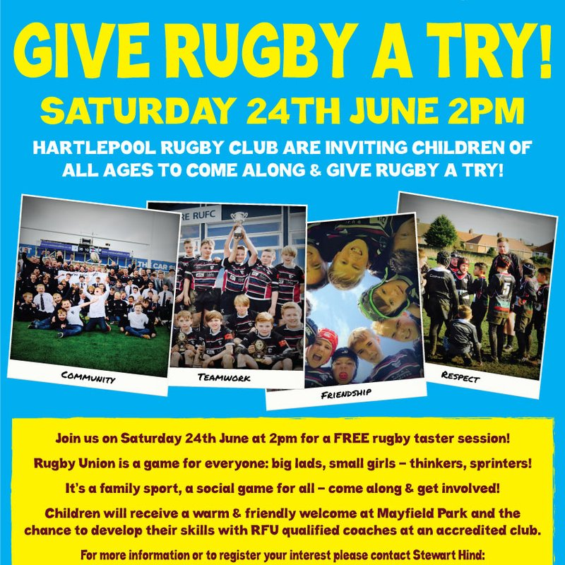 Give Rugby A Try This Saturday!