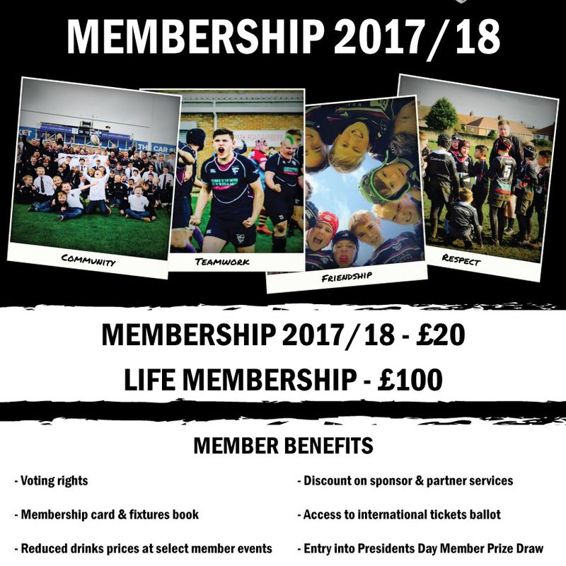 Club Membership 2017/18