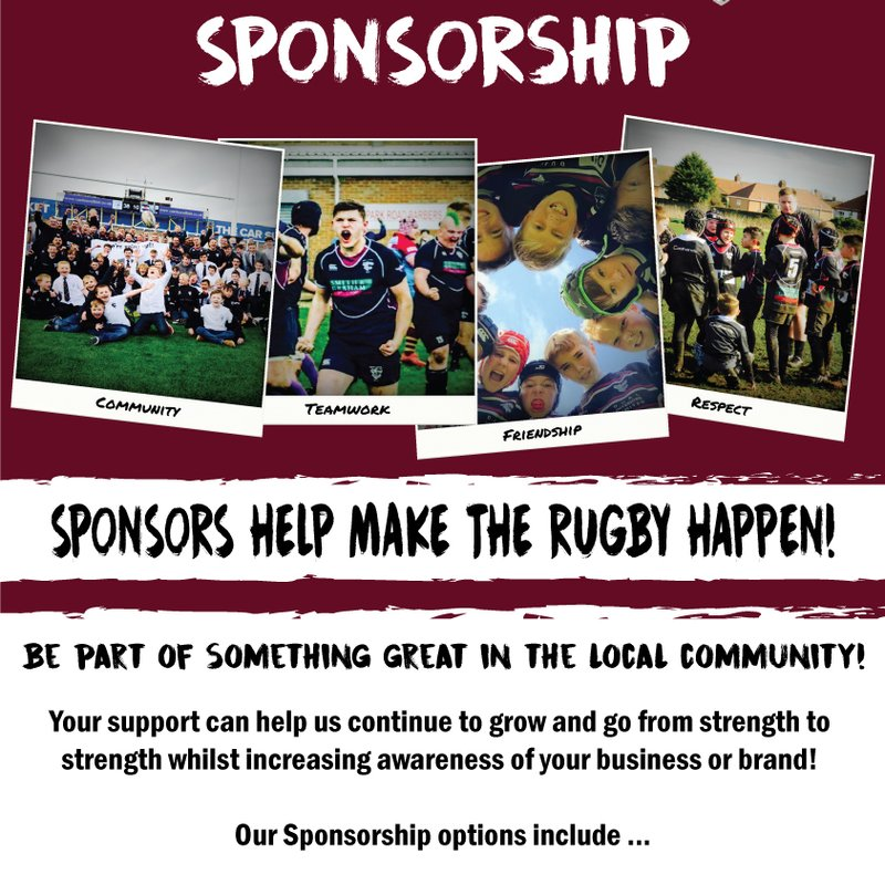 Promote your business at Hartlepool Rugby Club
