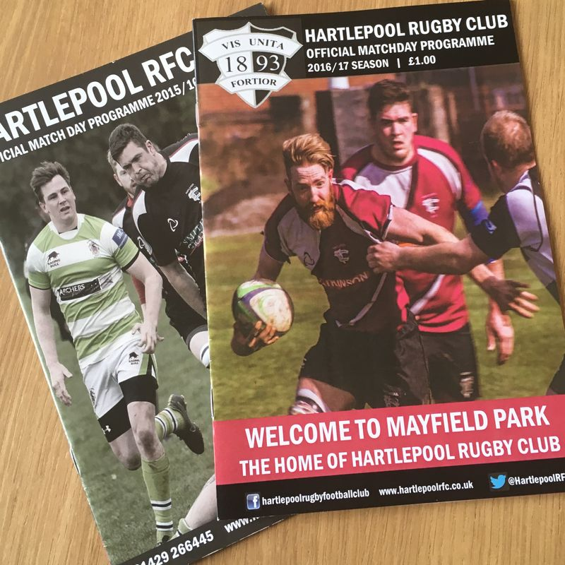 The Hartlepool RFC Match Day Programme needs your help!