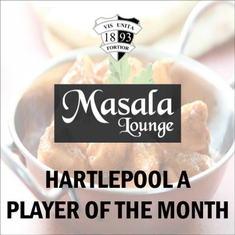 Josh Bancroft named Masala Lounge Hartlepool A Player of the Month