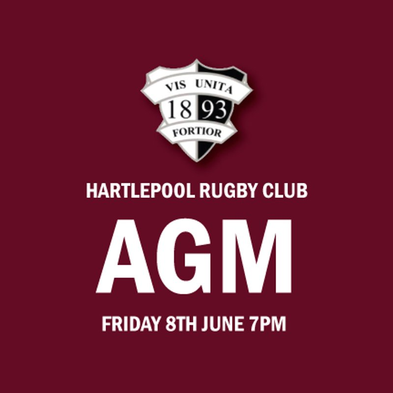 Annual General Meeting - Friday 8th June