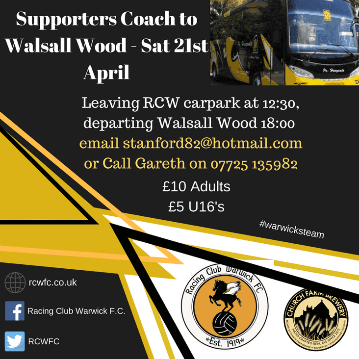 Supporters Coach to Walsall Wood