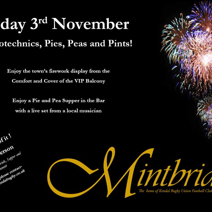 FREE Firework Display, 3rd November - Bar Menu Announced & Bookings OPEN!
