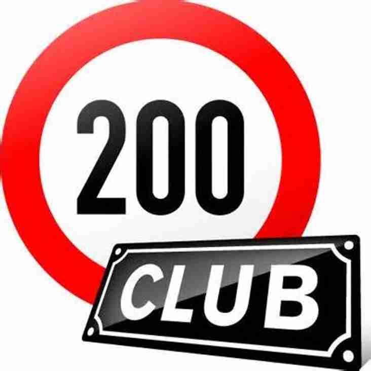 200 CLUB WINNER for October Draw and 'The Biggie' November draw for £1,000!