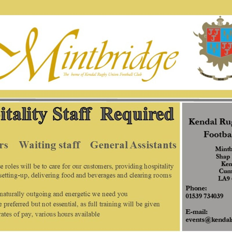 Mintbridge is recruiting hospitality positions!