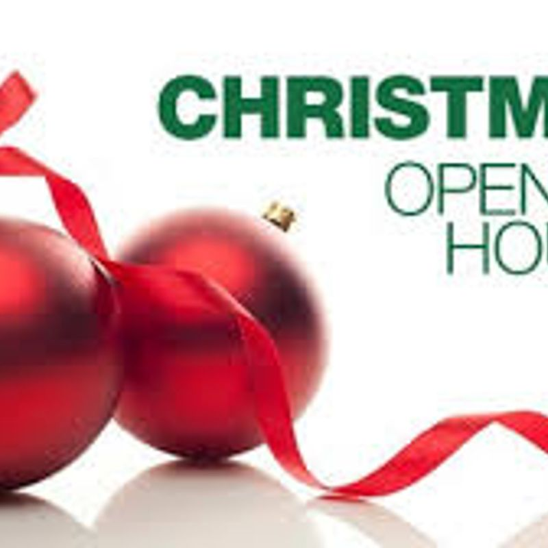 Christmas Period Opening Times and Members' Bonus!