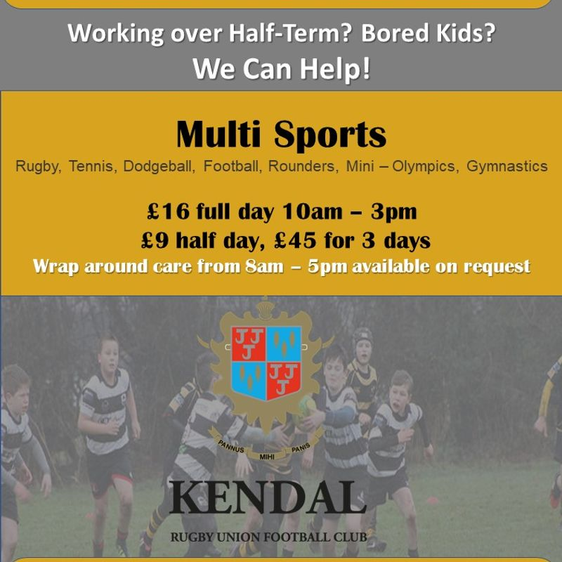Half-Term Sports Camp: Ages 7 – 14, Wednesday 14th Feb – Friday 16th Feb