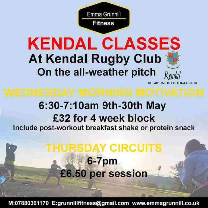 Get Fit Now At Kendal Rugby Club With Grunnill Fitness
