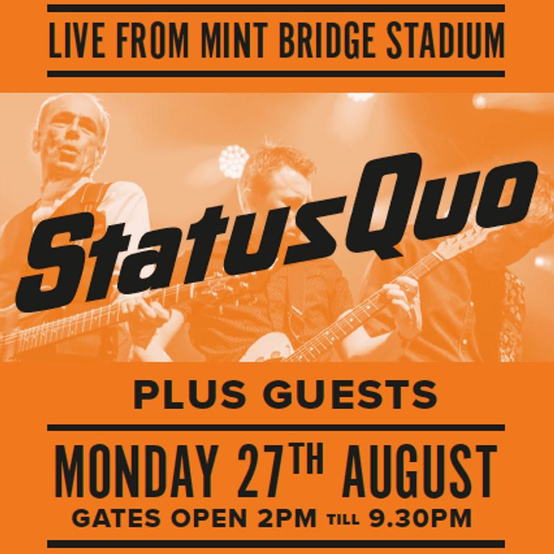 Status Quo Concert, 27 August 2018: Ticket Advice