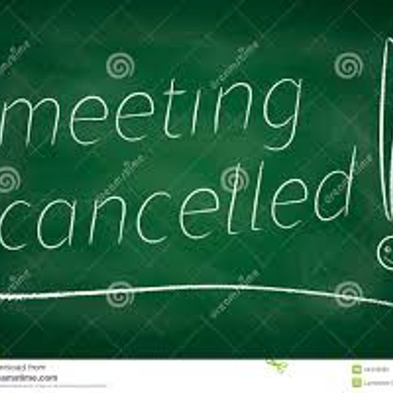 Management Meeting Cancelled 19th Sept 2017  Key members unavailable