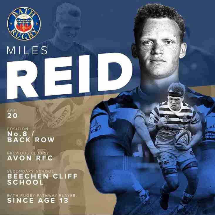 Congratulations Miles Reid on Signing Bath Senior Squad Contract