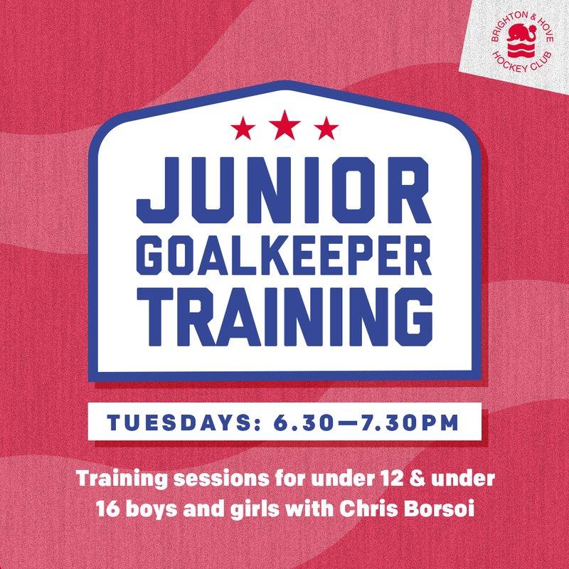 Junior goalkeeping training dates for 2018-19