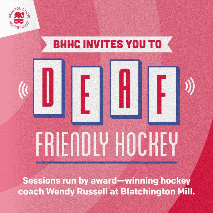Deaf friendly hockey starts at Blatchington on Tuesday night