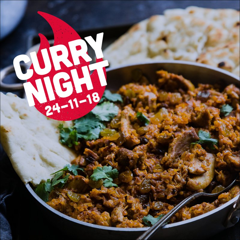 Hot news — Curry Night at the clubhouse on November 24