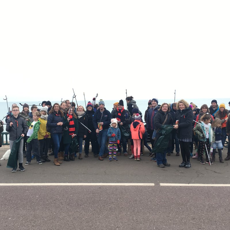 BHHC members fight the tide of marine litter at first 'beach clean'