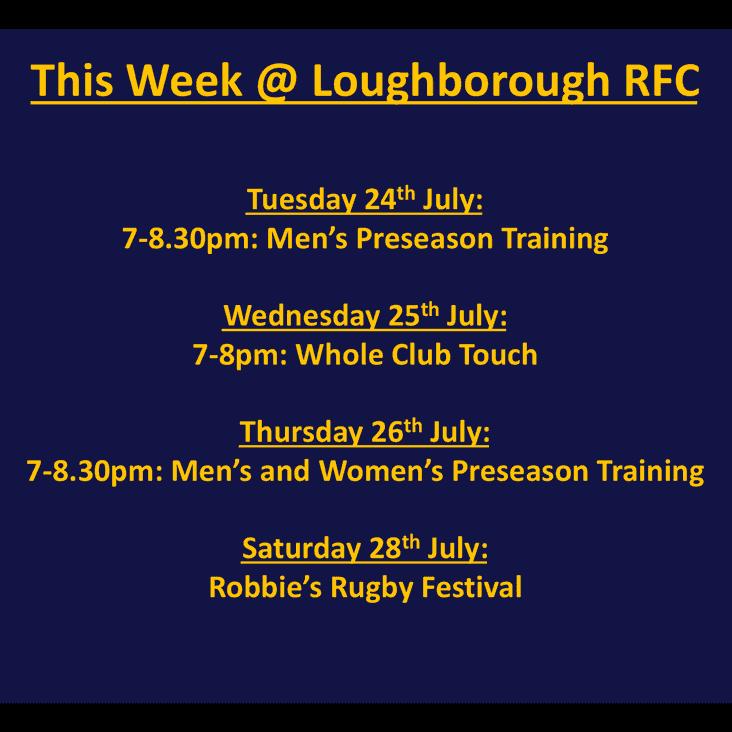 This week @ Loughborough RFC...