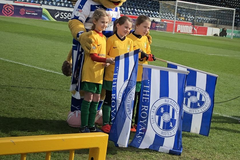 U8 Team Members at Sister Club Match