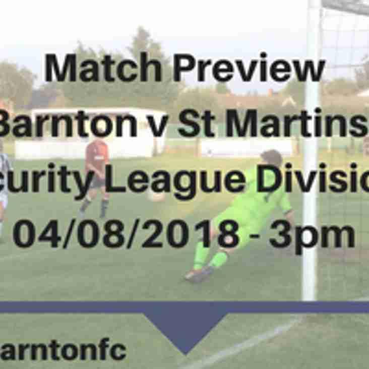 Barnton v St Martins - Preview
