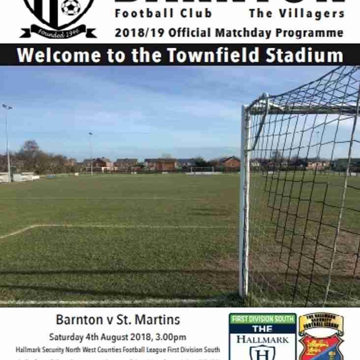 Barnton v St Martins - Programme