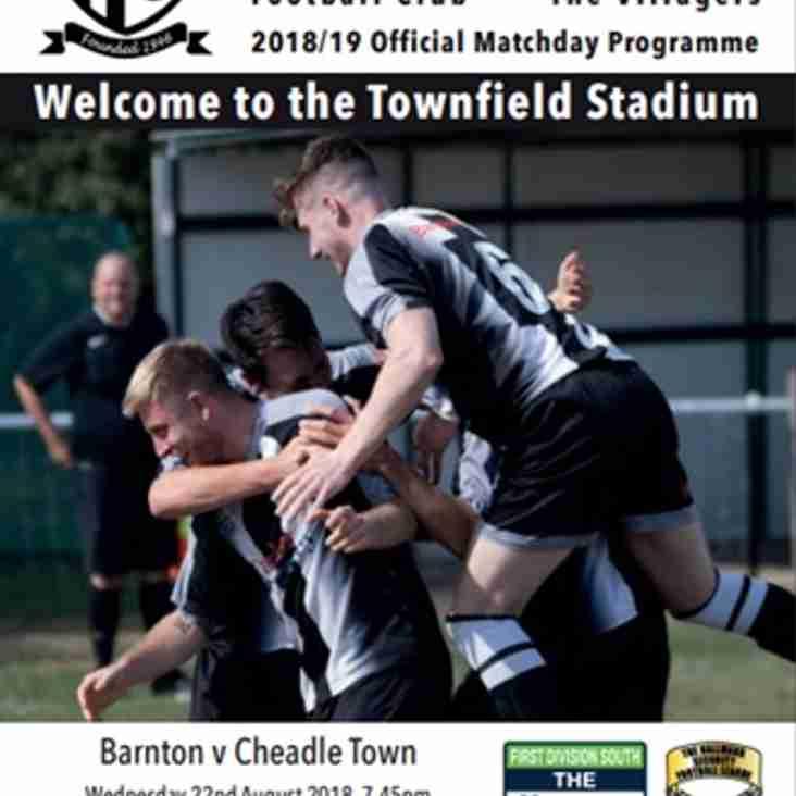 Barnton v Cheadle Town - Programme