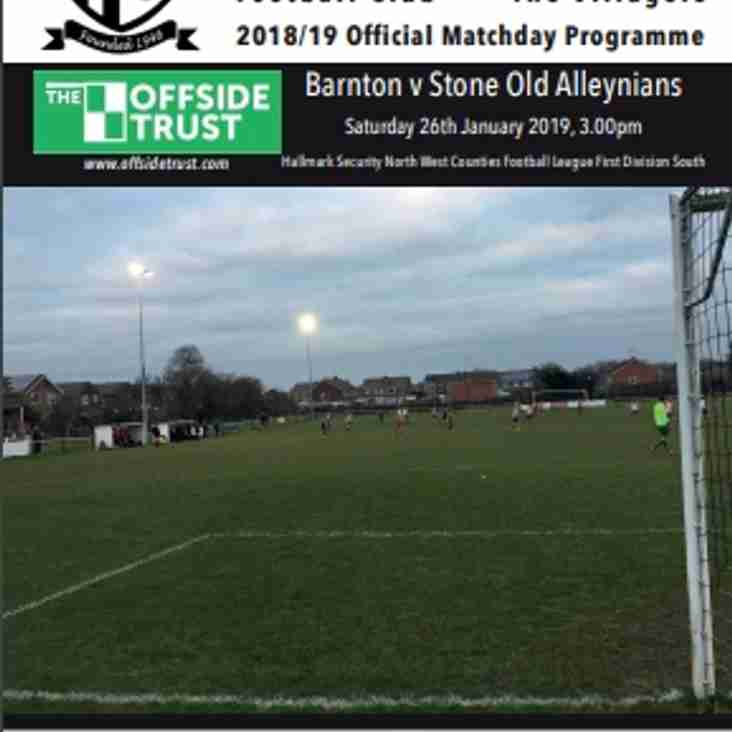 Barnton v Stone Old Alleynians - Preview