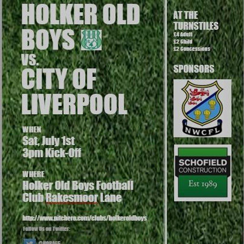 Pre-Season Friendly Holker Old Boys vs. City of Liverpool