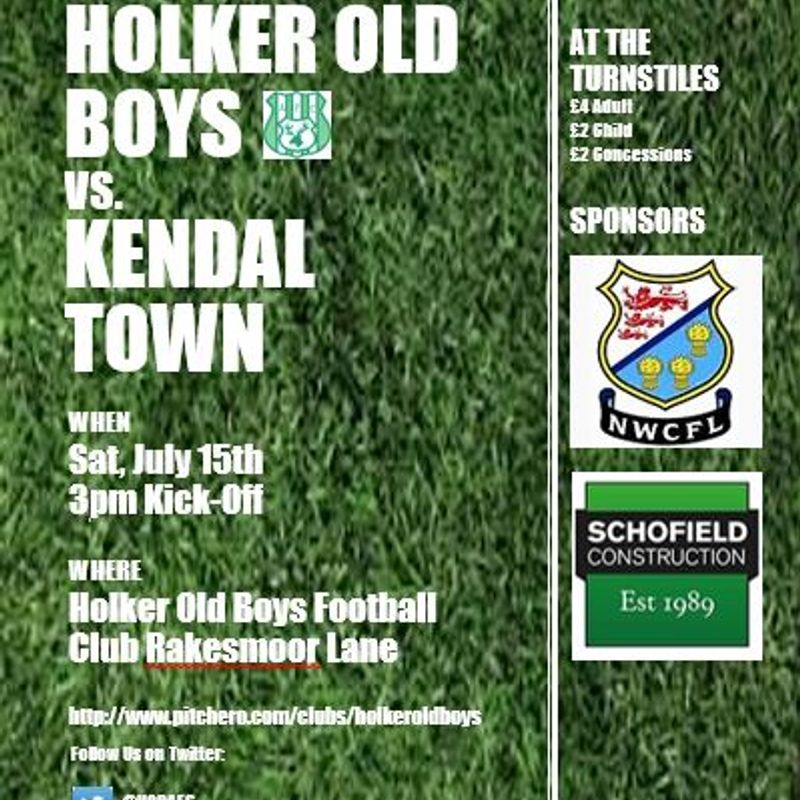 Pre-Season Friendly Holker Old Boys Vs. Kendal Town FC
