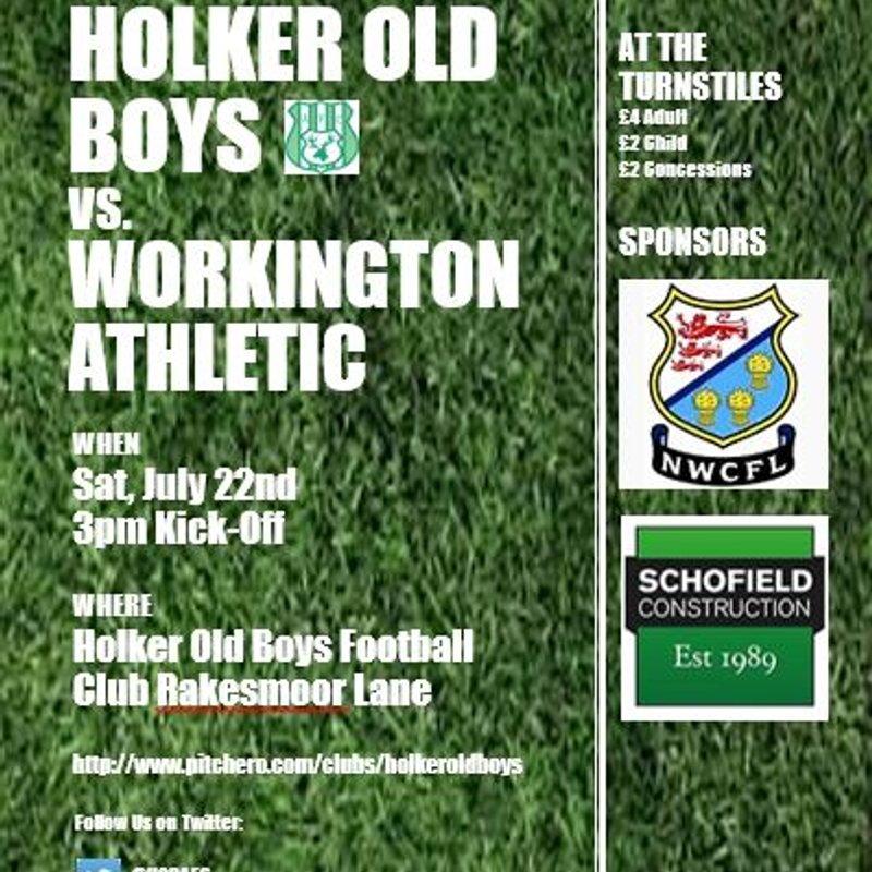 Pre-Season Friendly Holker Old Boys vs. Workington Athletic