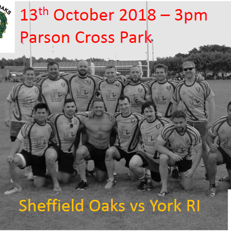 Oaks vs York RI 13/10/2018 - 3pm