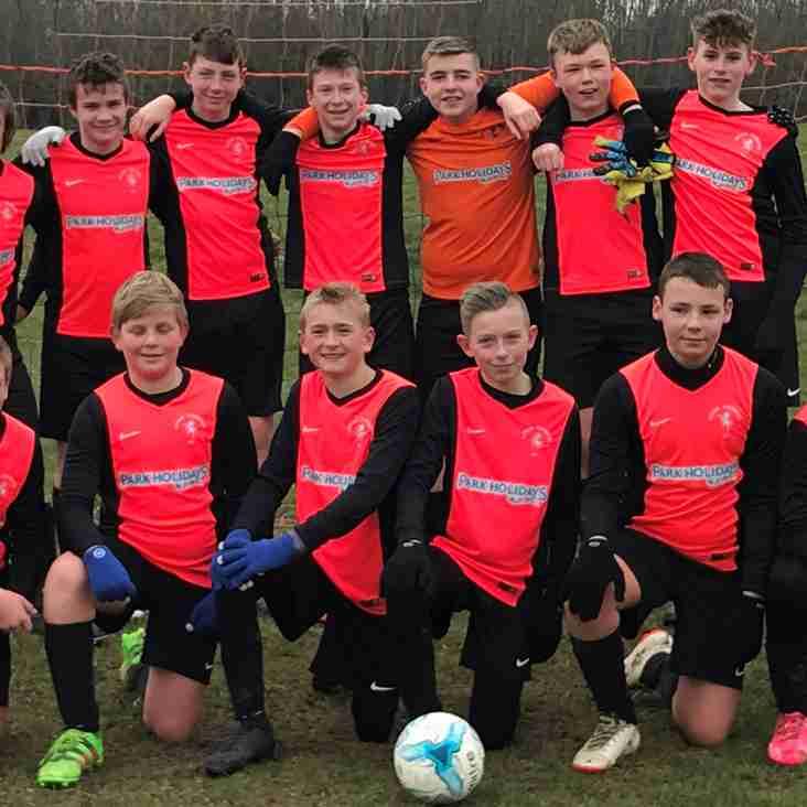 Under 14's win League Title