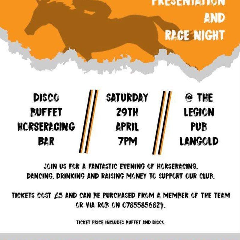 Worksop Town Ladies Presentation night /Race night
