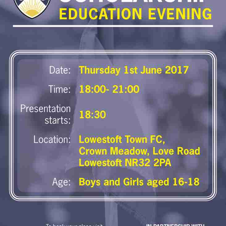 Scholarship Education Evening